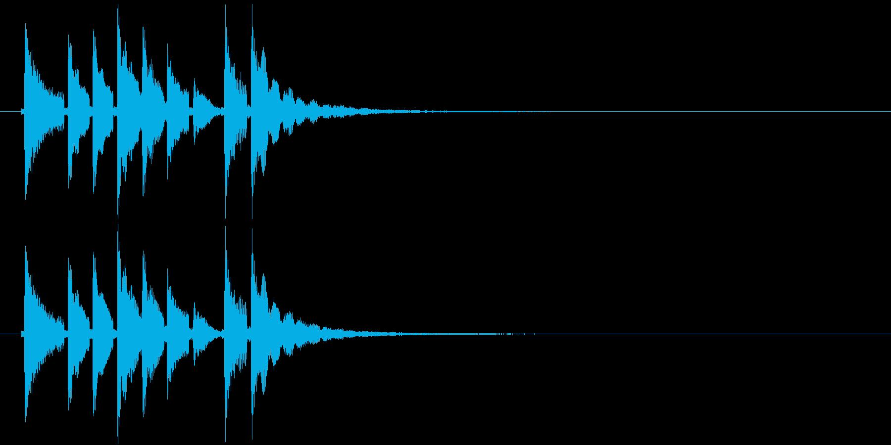 和風効果音 三味線(鳴り物なし)の再生済みの波形