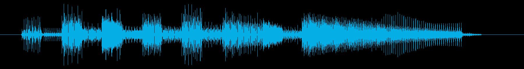 GB風レースゲームのジングルの再生済みの波形
