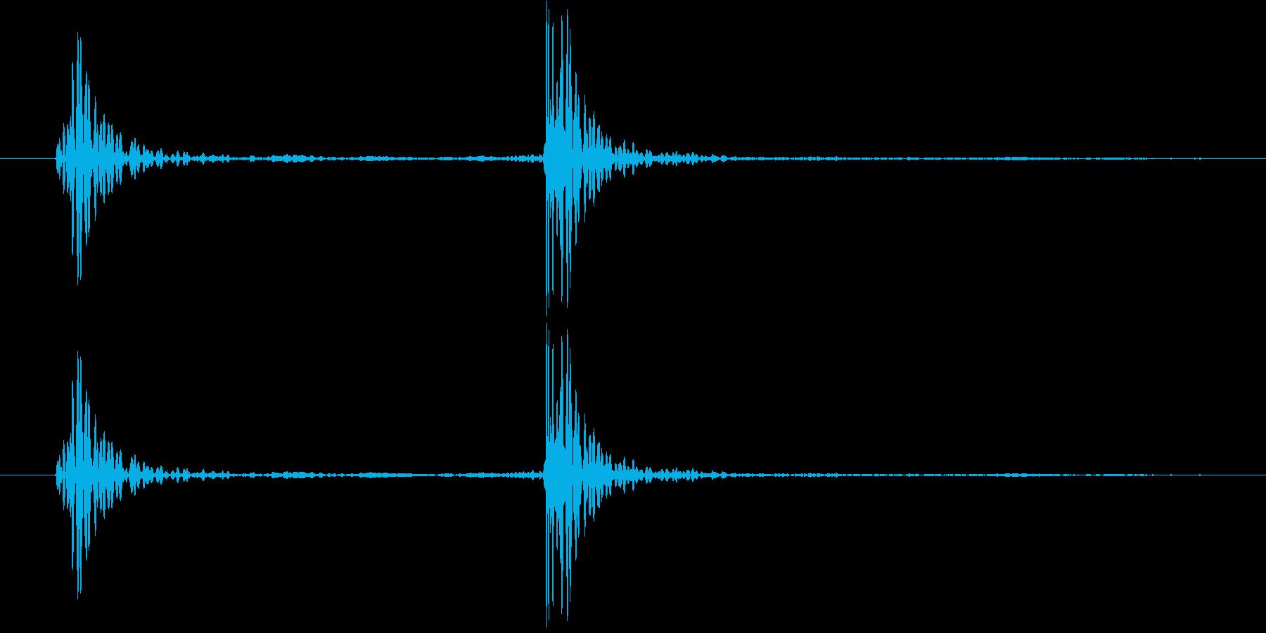 ノック2(やや強め) コンコン!の再生済みの波形
