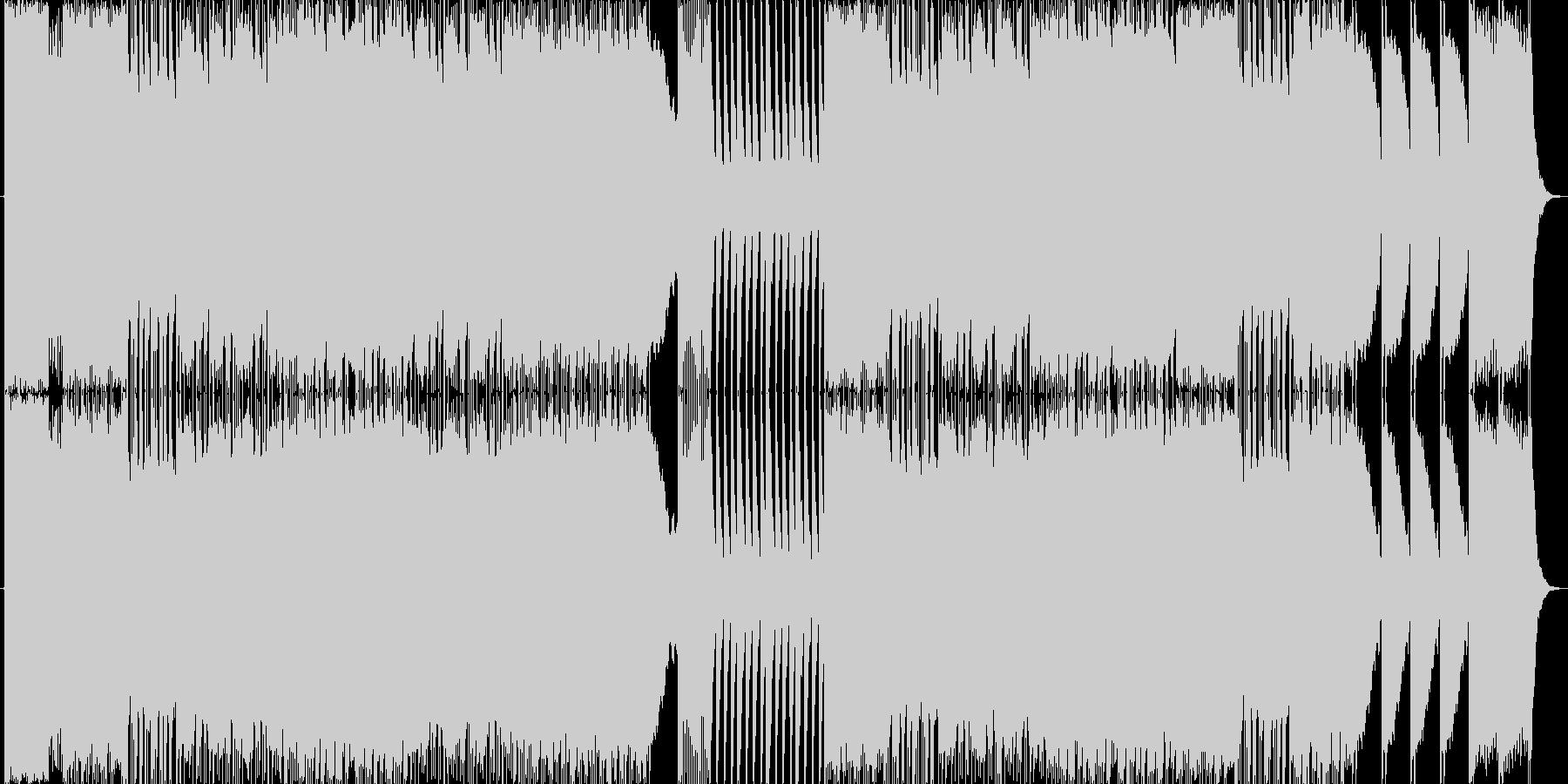 悪魔の囁きをイメージしたピアノ曲の未再生の波形