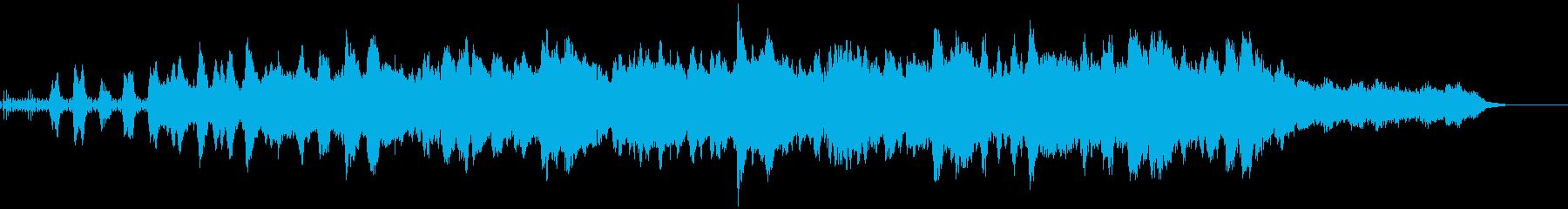 ミステリアスなミニマルテクノの再生済みの波形