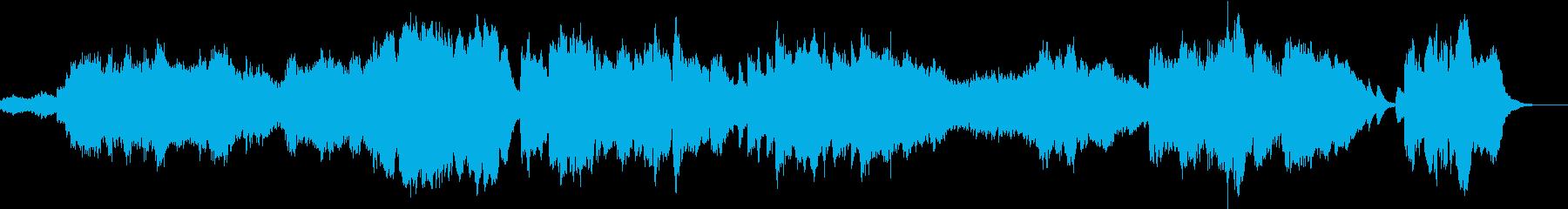 穏やかなクラリネットメインの木管四重奏の再生済みの波形