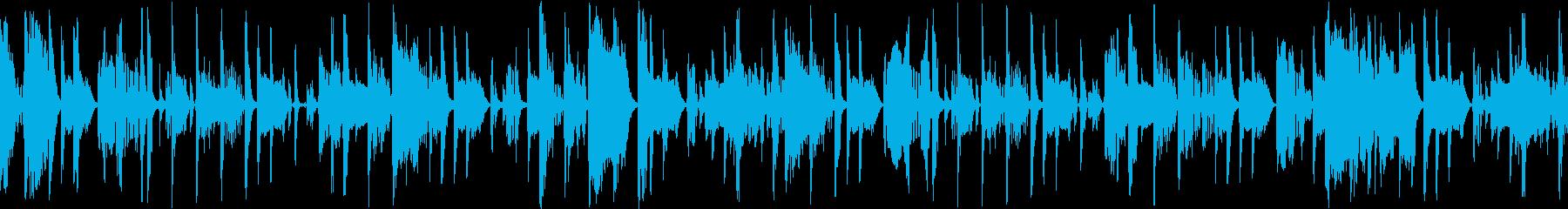 ダウンテンポでゆるいファンクの再生済みの波形