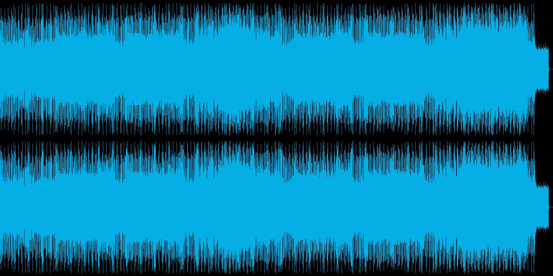 アングラな雰囲気のかっこいいテクノの再生済みの波形