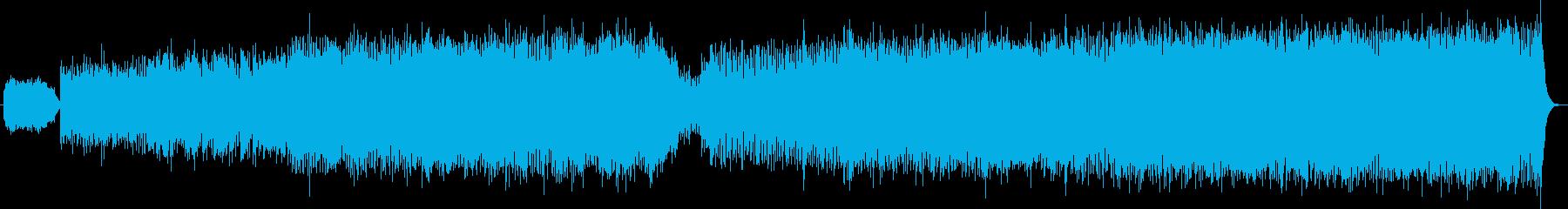シンセとエレキギター女声ボーカルのロックの再生済みの波形