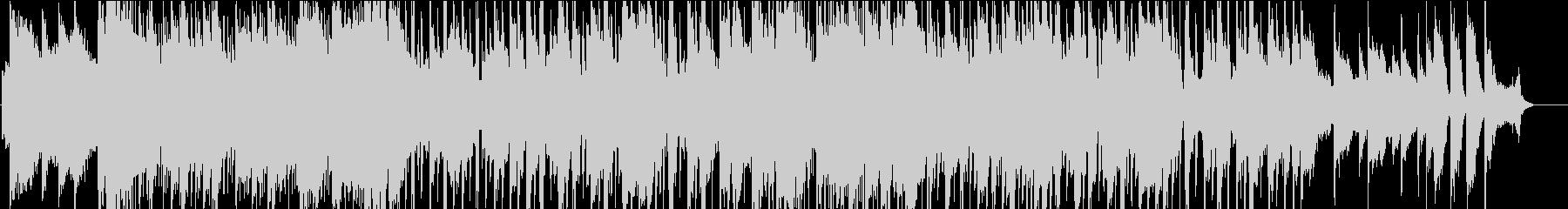 パンフルートの軽快で癒し系の曲の未再生の波形