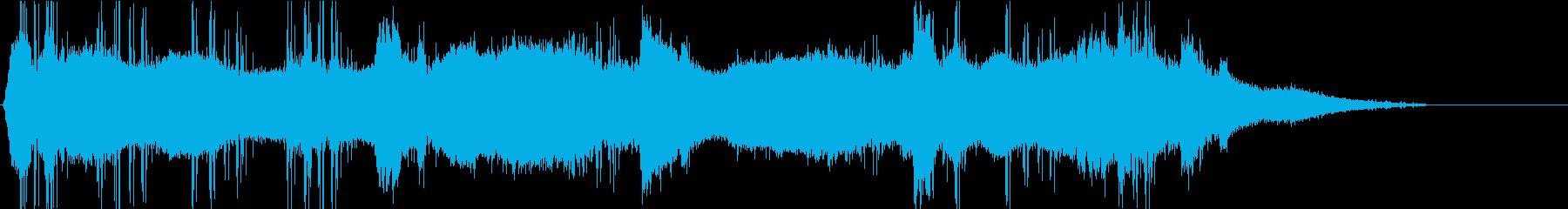 周囲の暗く大気のサウンドスケープは...の再生済みの波形