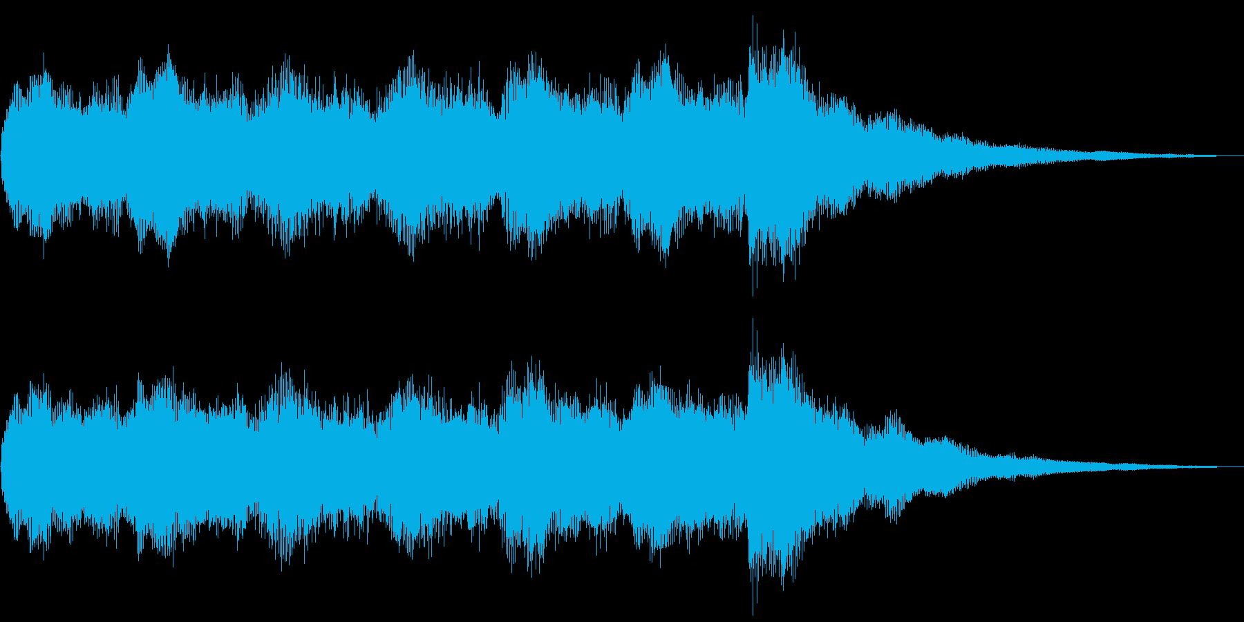 着メロのようなジングル、サウンドロゴの再生済みの波形