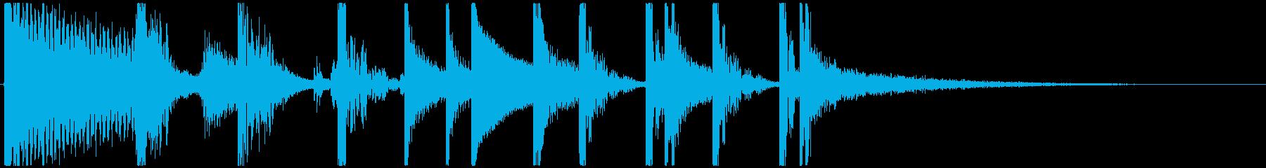 ファンキーなショートジングルの再生済みの波形