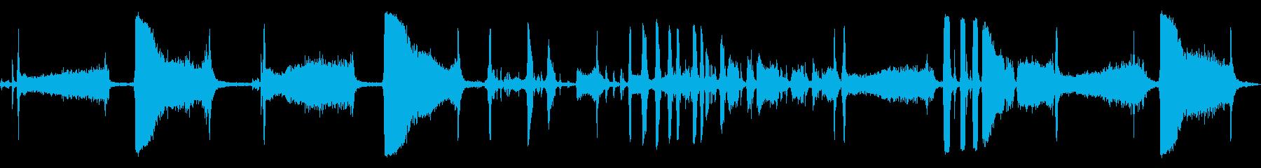機械空気吸引解除レバークランクの再生済みの波形