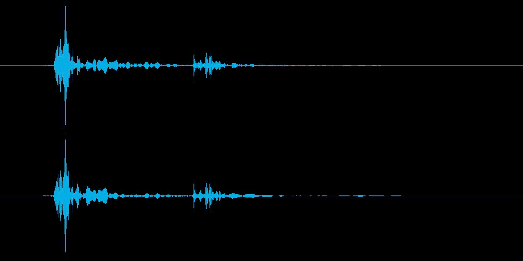 キーボード 一打A エンター風 (生音)の再生済みの波形