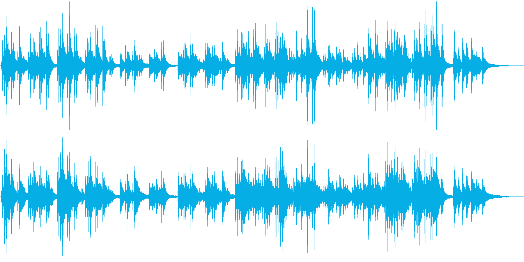 ゆったりと穏やかなピアノクラシック曲の再生済みの波形