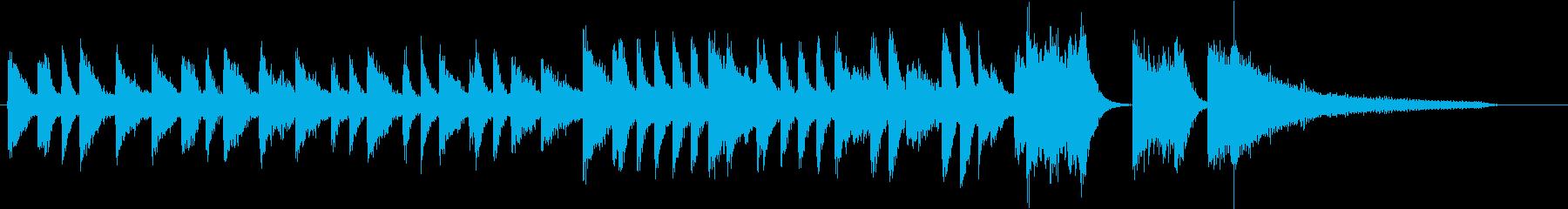 童謡・雪モチーフの冬のピアノジングルBの再生済みの波形