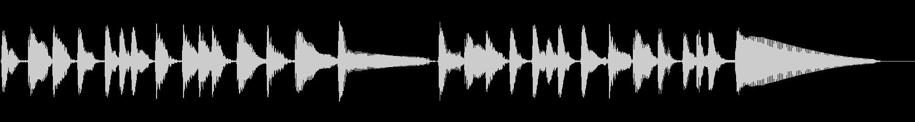 アコースティックベース:トラックト...の未再生の波形