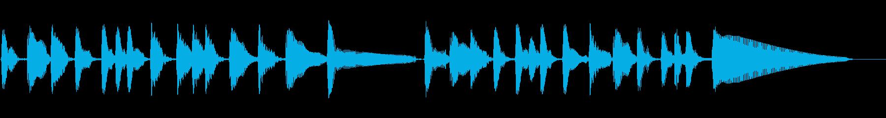 アコースティックベース:トラックト...の再生済みの波形