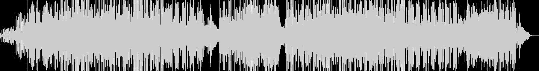 オシャレなフレーズ 疾走感溢れるBGMの未再生の波形