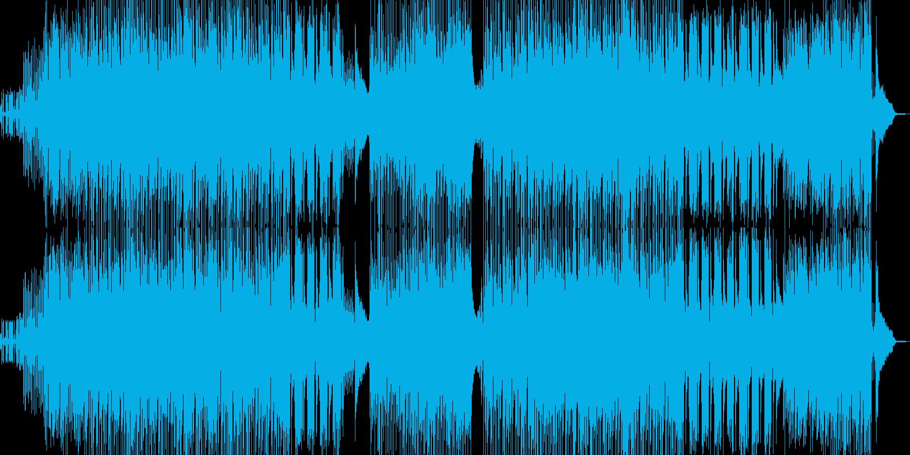 オシャレなフレーズ 疾走感溢れるBGMの再生済みの波形