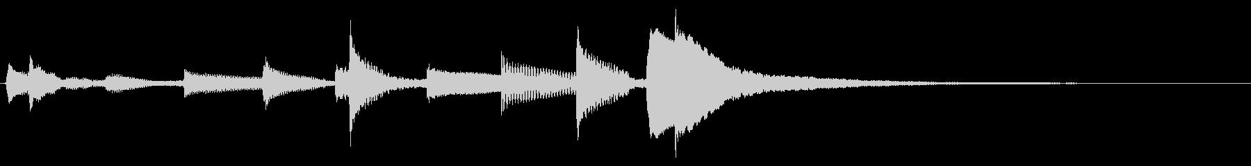★ウクレレ生音のジングルの未再生の波形