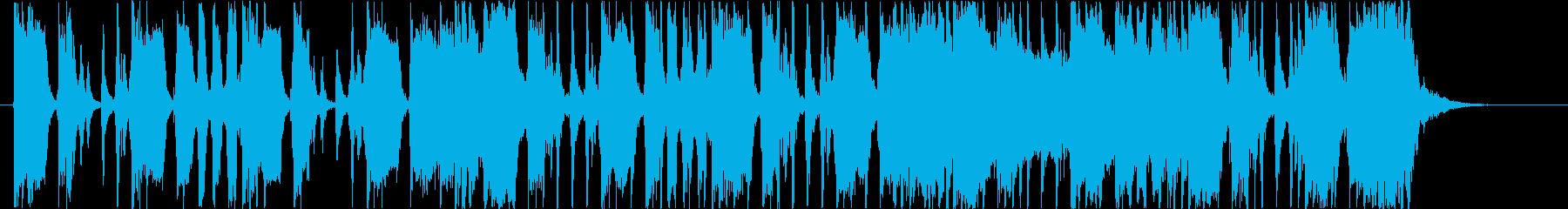 どっしりとしたロックギターの再生済みの波形