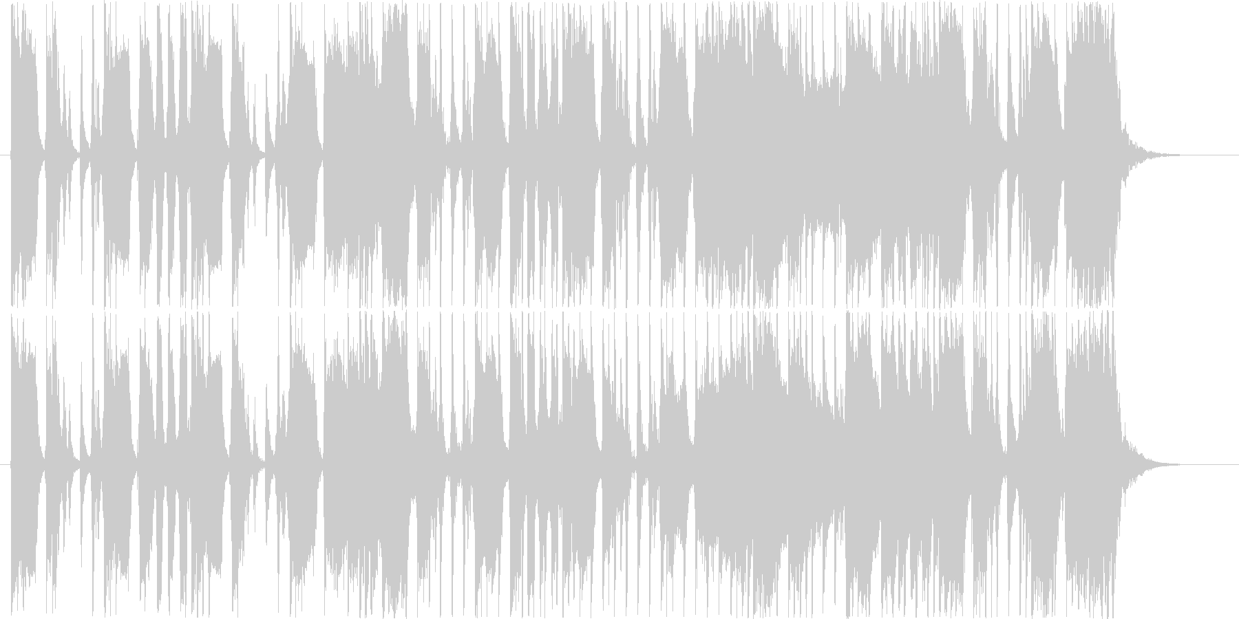 どっしりとしたロックギターの未再生の波形
