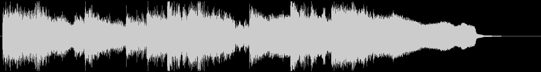 篠笛の音色が印象的な15秒CM向けの曲の未再生の波形