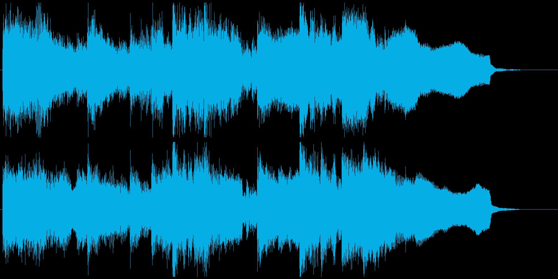 篠笛の音色が印象的な15秒CM向けの曲の再生済みの波形