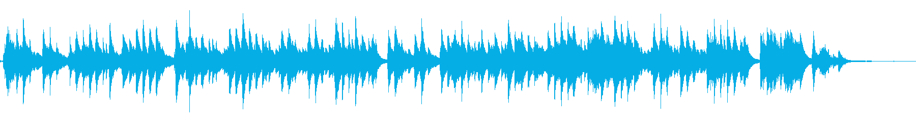 "Piano solo of nursery rhyme ""Sakura Sakura""'s reproduced waveform"