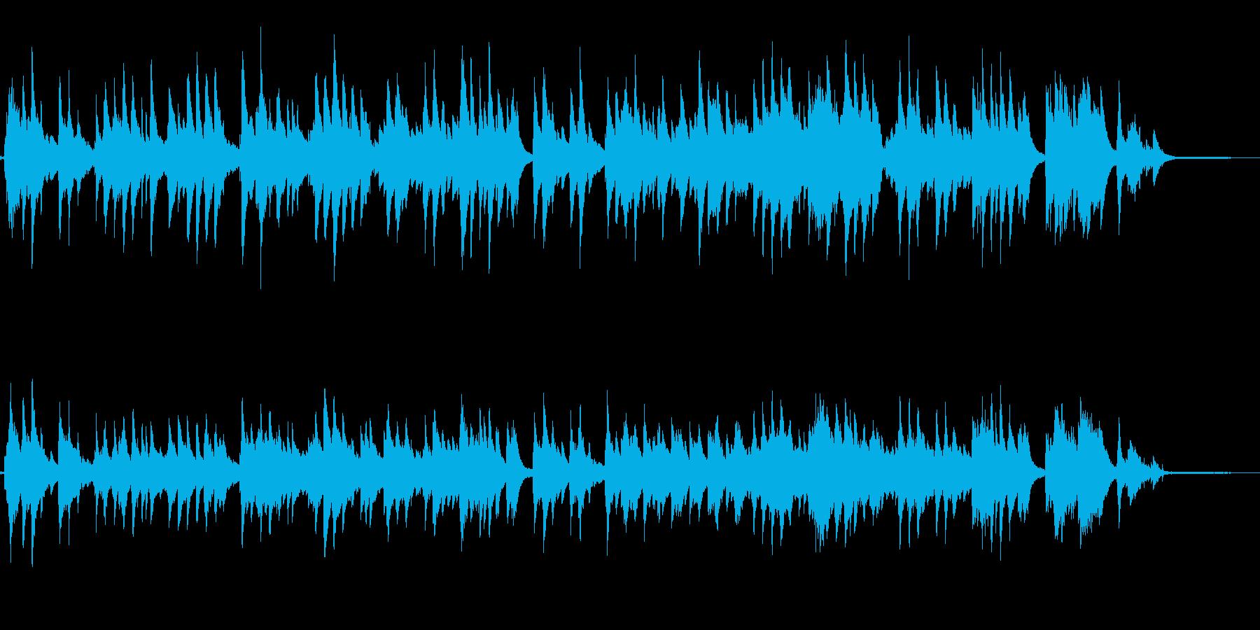 童謡「さくらさくら」をピアノソロでの再生済みの波形