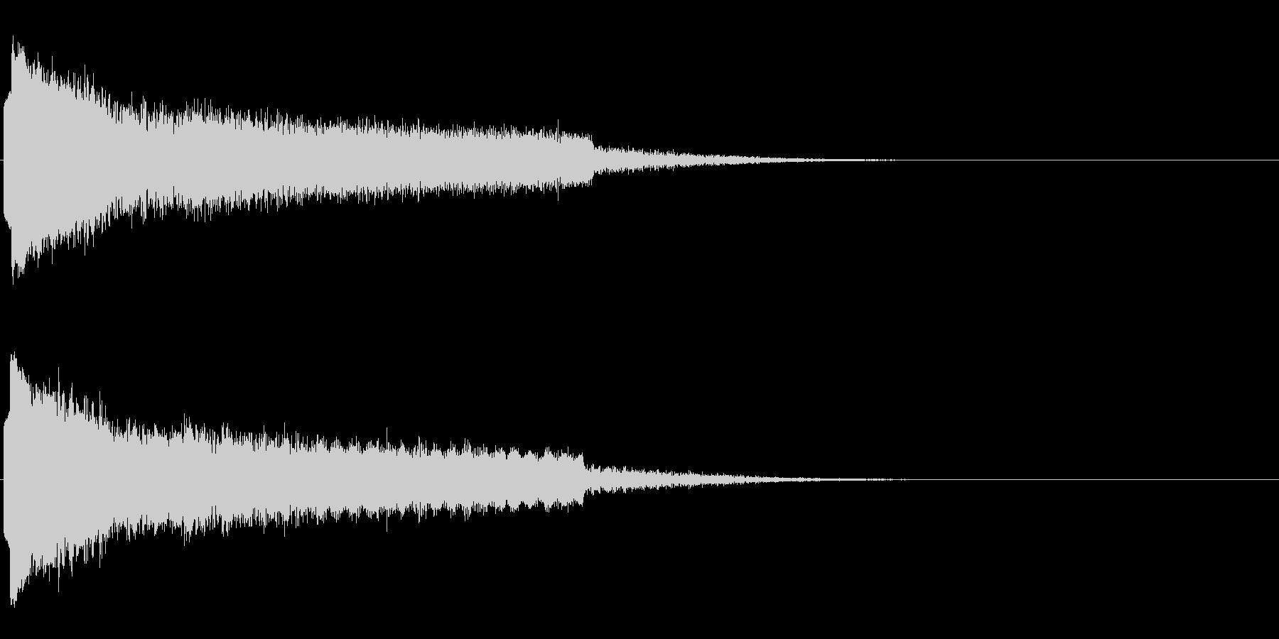 キューン ヒューン ピーン キューン の未再生の波形