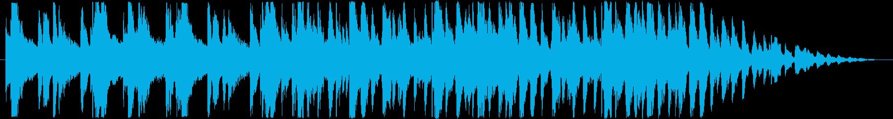 ノスタルジックな雰囲気の30秒JAZZの再生済みの波形