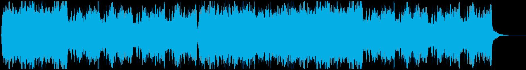 幻想的で神秘的な空間っぽいクワイア曲の再生済みの波形