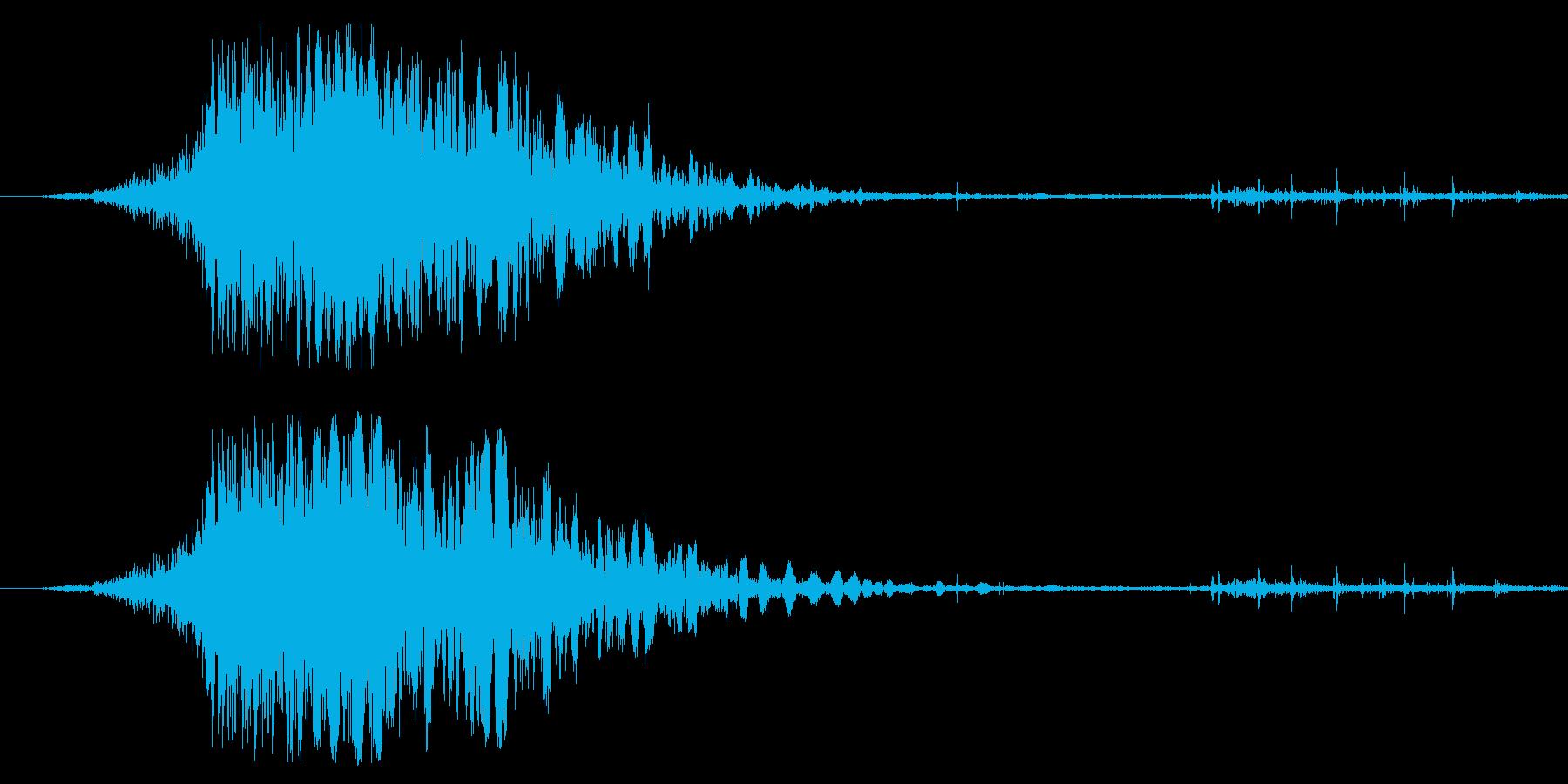 斬撃音(刀や剣で斬る/刺す効果音)05bの再生済みの波形