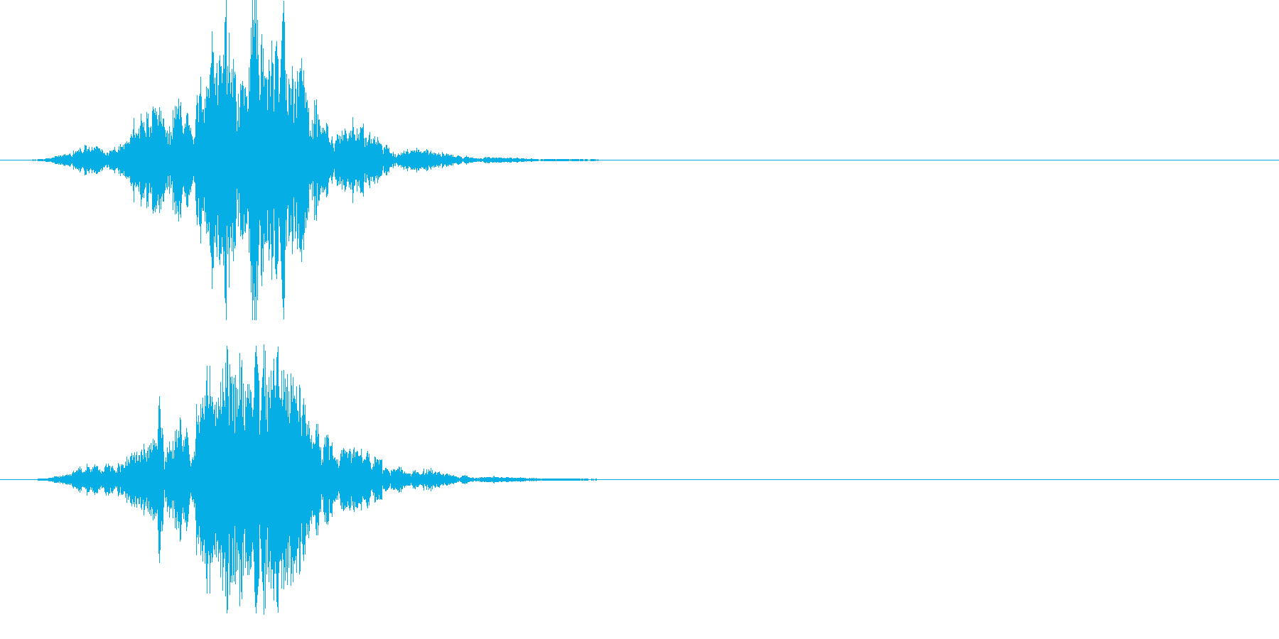ポリポリポリポリ… です。 U…の再生済みの波形