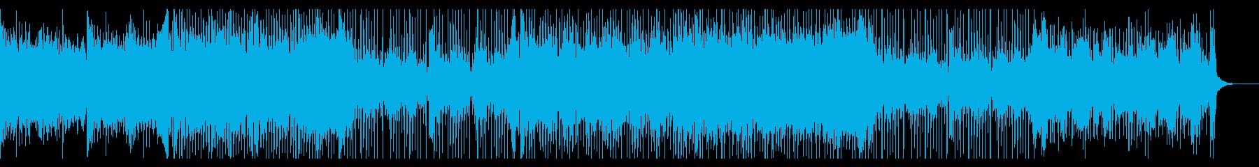 爽快でほのぼのするポップス曲の再生済みの波形