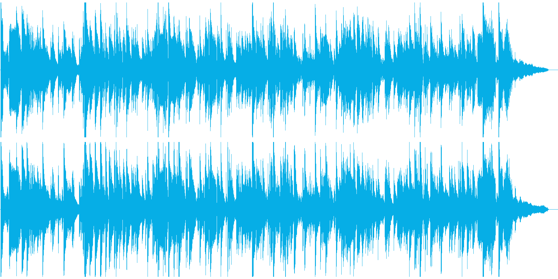 優雅で美しいサックスのジャズバラードの再生済みの波形