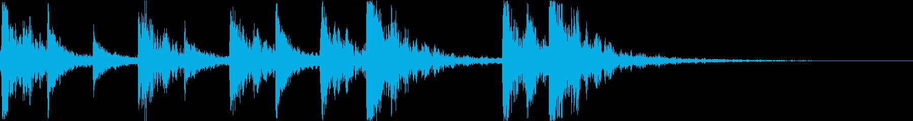 正月・江戸風、三味線・箏の和風ジングルの再生済みの波形