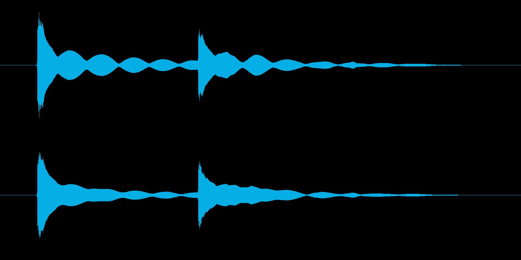 チーン!仏壇、おりんの音の再生済みの波形