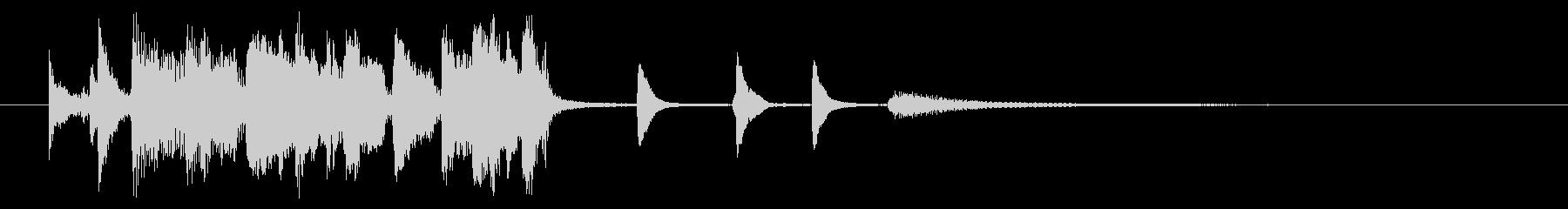 PopなSwing jazzジングルの未再生の波形