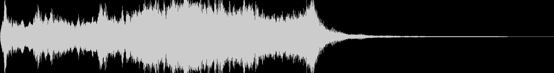 雄大で開放的なシンフォニックジングルの未再生の波形
