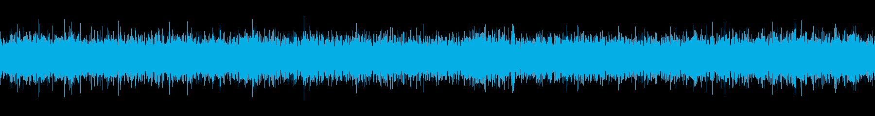 東京地下鉄の駅の環境音(ループ処理済)の再生済みの波形