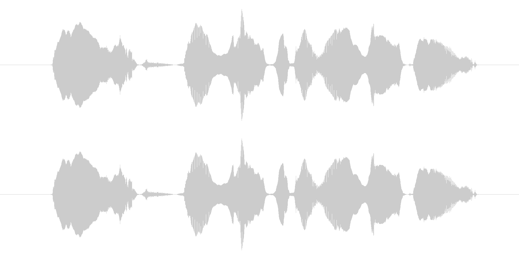 【親子】「わーい、ハンバーグだハンバー…の未再生の波形