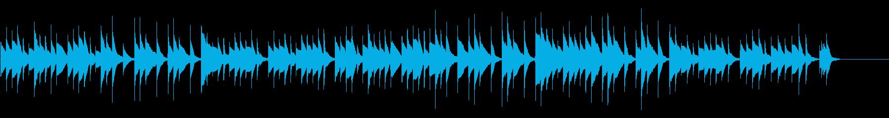 眠れそうなオルゴール曲の再生済みの波形