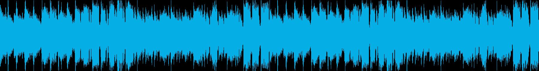 ほのぼのゆったりした曲の再生済みの波形