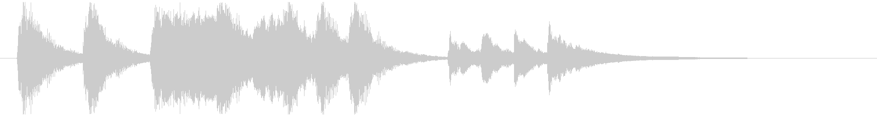 のんびり、おどけたオーケストラロゴの未再生の波形
