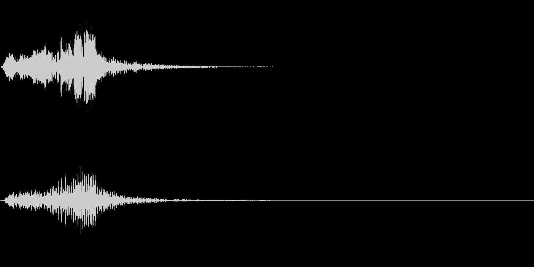 フュロロロロッ↑(フルート駆け上がり)の未再生の波形