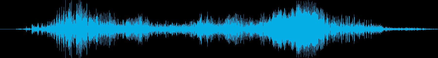 ジー(鞄のジッパーの音)の再生済みの波形