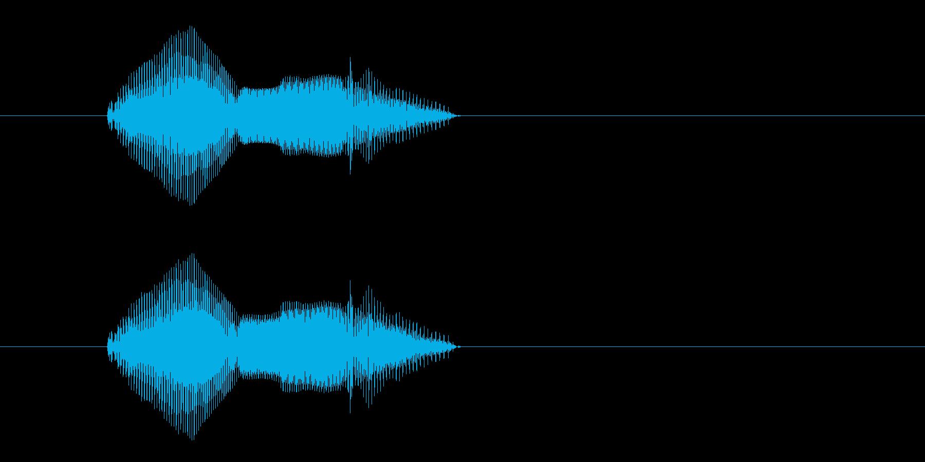 くま・熊(2歳児の生声です)の再生済みの波形