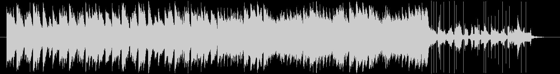 ピアノがかわいいBGMの未再生の波形