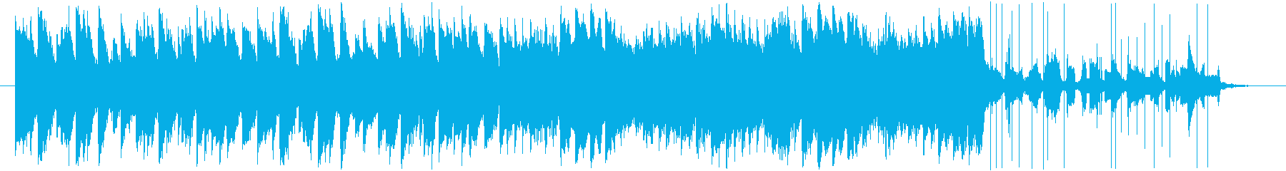 ピアノがかわいいBGMの再生済みの波形