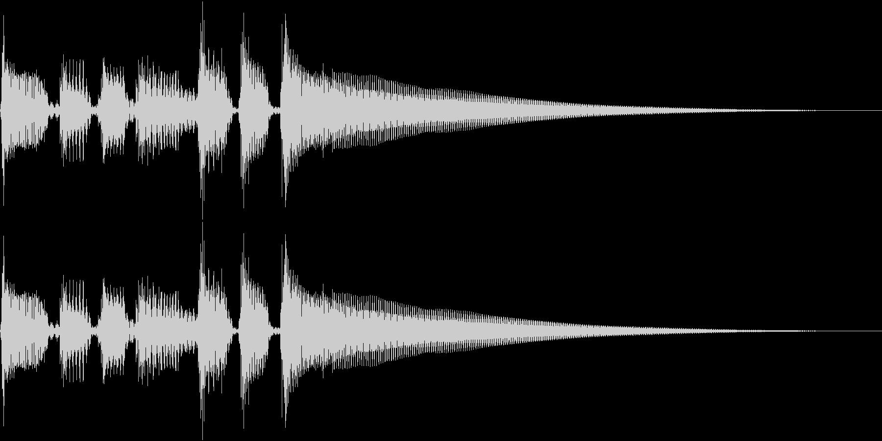 エレキギターのクリーンなサウンドの未再生の波形